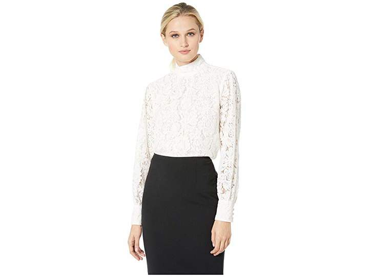 Lauren Ralph Lauren Lace Mock Neck Top