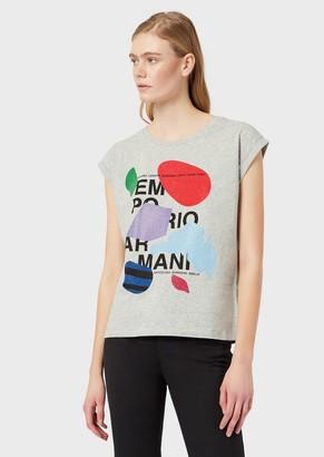 Emporio Armani T-Shirt With Logo And Micro Studs