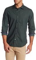 Ganesh Long Sleeve Basket Weave Print Shirt