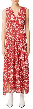 Maje Renilde Abstract Print Maxi Dress