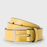 Paul Smith Men's Mustard Leather Belt