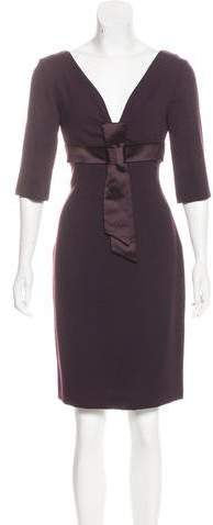 Alexander McQueen Wool Sheath Dress