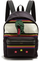 Saint Laurent City Dinosaur-print Canvas Backpack