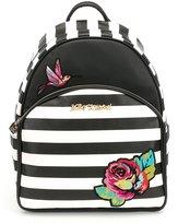 Betsey Johnson Belle Rose Striped Backpack