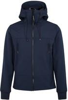 C.p. Company Goggle Navy Hooded Stretch Jersey Jacket