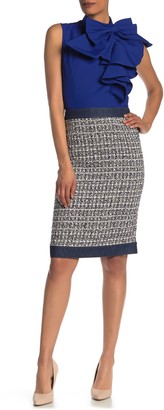 Gracia Denim Trim Tweed Skirt