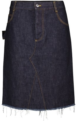 Bottega Veneta Denim miniskirt