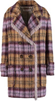 See by Chloe Checked faux shearling coat