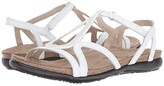 Naot Footwear Tamara (White Leather/Silver Rivets) Women's Shoes