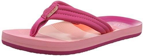Reef Girls' Little Ahi Flip Flops,2/3 UK