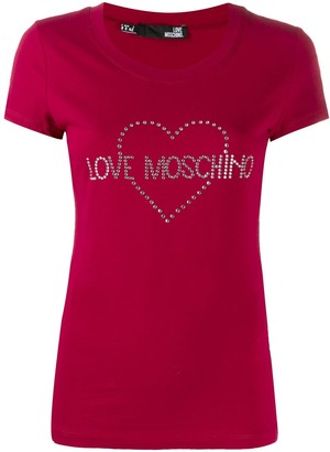 Love Moschino embellished logo T-shirt