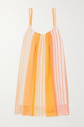 Lemlem Net Sustain Eshal Striped Cotton-gauze Mini Dress - Yellow