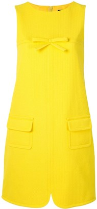 Paule Ka Bow Detail Pique Shift Dress