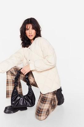 Nasty Gal Womens PU slouchy shoulder bag - Black - ONE SIZE, Black