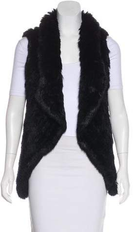 Yves Salomon Open-Front Fur Vest