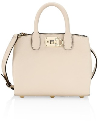 Salvatore Ferragamo Mini Studio Leather Top Handle Bag