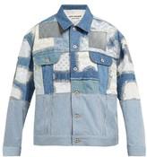 Junya Watanabe Patchwork Denim And Lace Jacket - Womens - Blue Multi