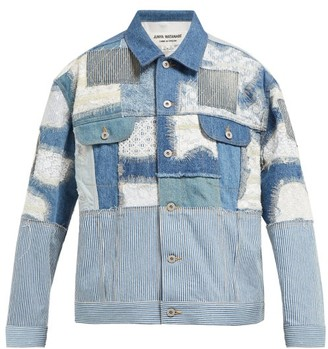 Junya Watanabe Patchwork Denim And Lace Jacket - Blue Multi