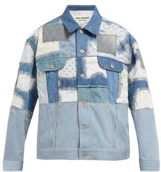 Junya Watanabe Patchwork Denim And Lace Jacket - Blue Multi