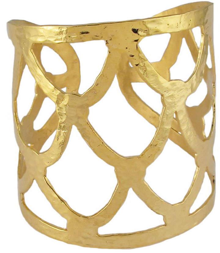 Devon Leigh Textured Golden Cuff Bracelet