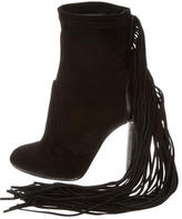 Just Cavalli Suede Fringe Ankle Boots