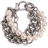 Moschino Chain & Imitation Pearls Bracelet