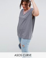 Asos Tank with Bright Sports Tipping
