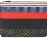 Givenchy Striped Grained-leather Document Holder