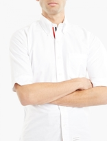 Thom Browne White Mid-length Sleeved Shirt