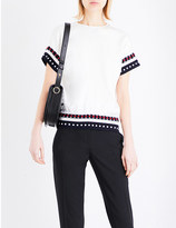 Victoria Beckham Embroidered woven top
