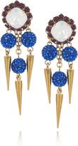 Erickson Beamon Field Of Dreams 22-karat gold-plated Swarovski crystal earrings