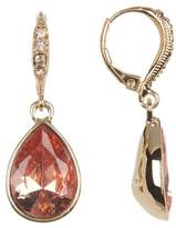 Givenchy Pave Pear-Cut Drop Earrings