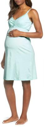 Belabumbum Lace Trim Maternity/Nursing Chemise