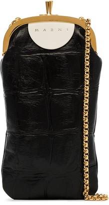 Marni Mini Mock croc-effect leather cross body bag