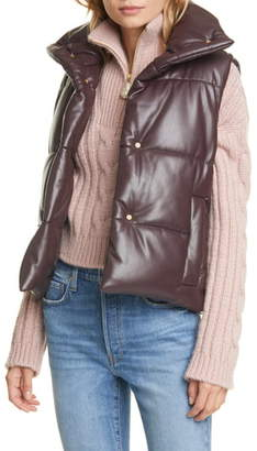 Nanushka Morillo Vegan Leather Puffer Vest