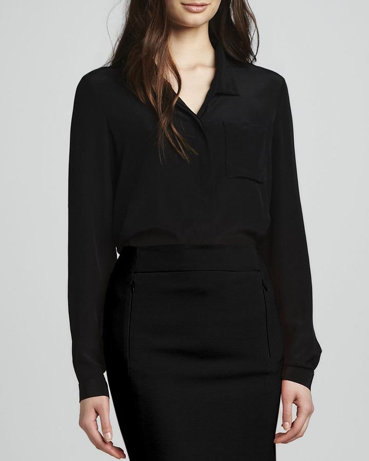 Diane von Furstenberg Lorelei Button-Front Top