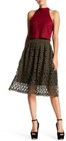 Romeo & Juliet Couture Cut-Out Lace Skirt