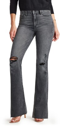 Sam Edelman The Stiletto High Waist Distressed Flare Leg Jeans