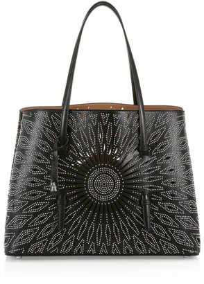 Alaia Medium Mina Studded Leather Tote