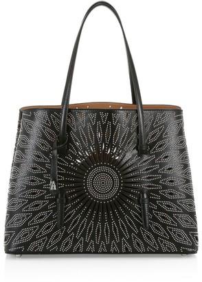 Alaia Medium Mina Studded Leather Tote