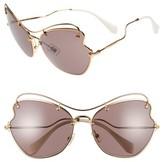 Miu Miu Women's 65Mm Sunglasses - Light Purple