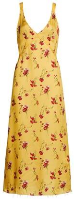 R 13 Floral Slip Midi Dress