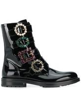 Dolce & Gabbana brooch buckle boots
