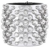 Tom Ford Crystal-embellished Metallic Leather Cuff