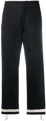 Jil Sander Tie Fastening Detail Cropped Jeans