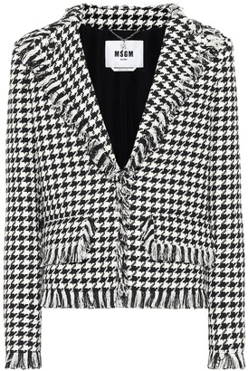 MSGM Houndstooth tweed blazer