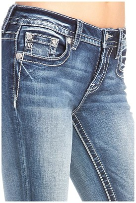 Miss Me Americana Embellished Bootcut Jeans in Medium Blue (Medium Blue) Women's Jeans