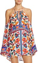 Nanette Lepore Antigua Embroidery Print Dress Swim Cover-Up