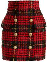 Balmain Hound's-tooth checked mini skirt