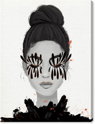 Oliver Gal Eyelash Petals Girl II Canvas Wall Art